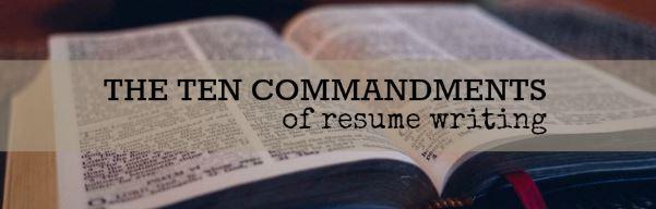 resume 10 commandments